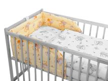 ANTONY FASHION - Mantinel do detskej postieľky - macko s medom - žltý
