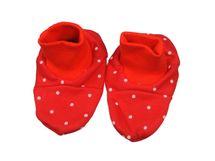 ANTONY FASHION - Papučky bavlnené - Bodka - červené, veľkosť: UNI