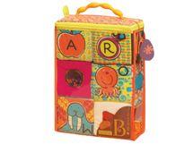 B-TOYS - Textilné kocky ABC Block Party