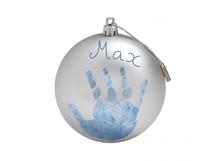 BABY ART - Vianočná guľa Christmas Ball Silver