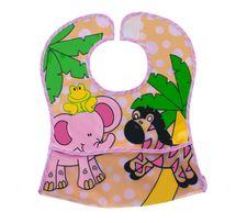BABY ONO - Podbradník umývateľný ružový