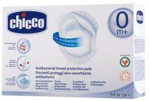 CHICCO - Antibakteriálne tampóny do podprsenky, 60 ks