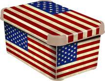 CURVER - Dekoratívny úložný box - S - AMERICAN FLAG