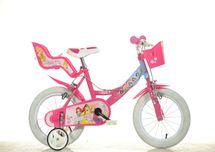 DINO BIKES - Detský bicykel 144RPSS Princess so sedačkou pre bábiku a košíkom - 14