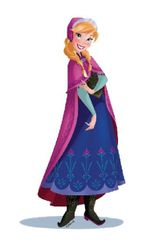 DISNEY - Dekorácia na stenu - Frozen - Anna