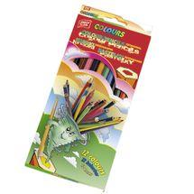 EASY - EasyColours drevenné pastelky  šesťhranné 12 farieb/sada