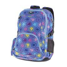 EASY - Batoh školský dvojkomorový fialový s farebnou potlačou
