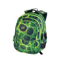 EASY - Školský ruksak trojkomorový zeleno - čierne kolieska, profilovaná zadná strana, 26 l