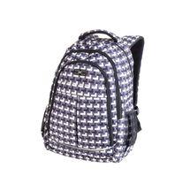 EASY - Študentský ruksak trojkomorový šedo - biely 26 l