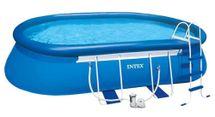 INTEX - bazén Metal Frame ovál 549x305x107 cm s filtračným zariadením 26192