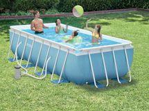 INTEX - bazén Prism Frame obdĺžnikový 300 x 175 x 80 cm s filtračným zariadením 26772