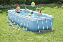 INTEX - bazén Prism Frame obdĺžnikový 488 x 244 x 107 cm s filtračným zariadením 28318