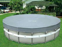 INTEX - krycia plachta na bazén okrúhla Deluxe s priemerom 549 cm 28041