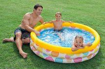 INTEX - nafukovací detský bazén Farebný 58439