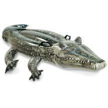 INTEX - Nafukovací realistický krokodíl s držadlami 57551