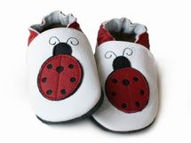 LILIPUTI - Topánky biele s lienkami