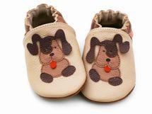 LILIPUTI - Topánky s hnedými psíkmi - veľ. L (18-24 mesiacov)