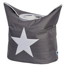 LOVE IT STORE IT - Box na bielizeň - šedý, biela hviezda