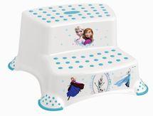 PRIMA BABY - Dvojstupienok k umývadlu a WC Frozen - Biela