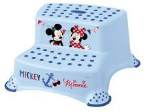 PRIMA BABY - Dvojstupienok k WC / umývadlu Mickey a Minnie - modrá