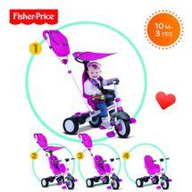 SMART-TRIKE - trojkolka Fisher Price 320 Charisma 4v1 Ružová