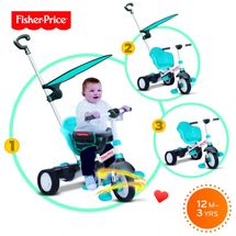 SMART-TRIKE - trojkolka Fisher Price 325 Charm Plus 3v1 Modrá