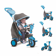 SMART TRIKE - Trojkolka Swing Touch Steering 4v1 modro šedá