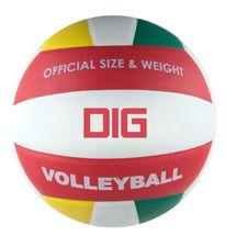 SPOKEY - DIG II Volejbalová lopta bielo - červená veľkosť 5