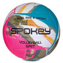 SPOKEY - GRIT Volejbalová lopta zeleno-ružová č.5