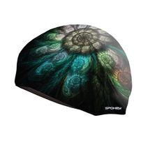 SPOKEY - STYLO Plavecká čiapka čierna vzor pierka