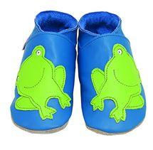 STARCHILD - Kožené topánočky - Froggie Blue - veľkosť M (6-12 mesiacov)