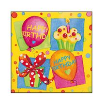 SUSY CARD - Servítky 33x33 cm - Happy Birthday