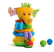 TINY LOVE - Skladacia pyramída s hudbou a loptičkamiMusical Stack & Ball Game - Elephant