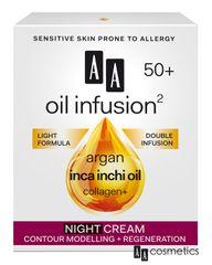 AA - Oil Infusion Nočný regeneračný a spevňujúci krém 50+ 50ml