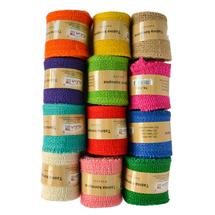 ALIGA - Konopná stuha farebná 2m (balenie mix 12 kusov)