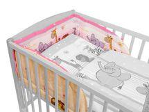 ANTONY FASHION - Mantinel do detskej postieľky - ZOO ružový