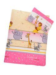 ANTONY FASHION - Obliečky (ružová) - ZOO, veľkosť: 120x90 (paplón) + 40x60 (vankúš)