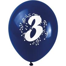 ARPEX - Balóniky nafukovacie - s číslom 3