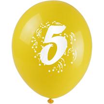 ARPEX - Balóniky nafukovacie - s číslom 5