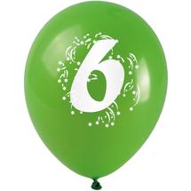 ARPEX - Balóniky nafukovacie - s číslom 6