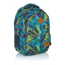 ASTRA - Študentský batoh Head HD-78 modrozelený