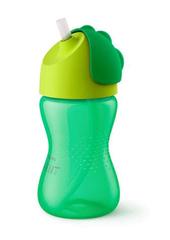 AVENT - Hrnček so slamkou 300ml -zelený