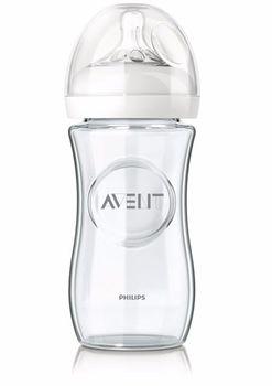 AVENT - Sklenená fľaša Natural 240 ml bez BPA