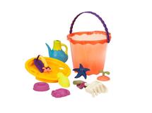 B-TOYS - Veľká sada hračiek na piesok v kýbliku 10 ks