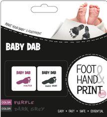 BABY DAB - Farba na detské odtlačky 2ks fialová, šedá