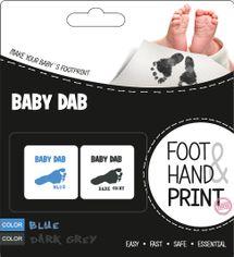 BABY DAB - Farba na detské odtlačky 2ks modrá d0df852ac46