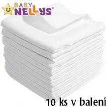BABY NELLYS - Kvalitné bavlnené plienky - TETRA BASIC 80x80cm, 10 ks v bal., K19