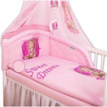 BABY NELLYS - Obliečky Sweet Dreams by Teddy - růžový