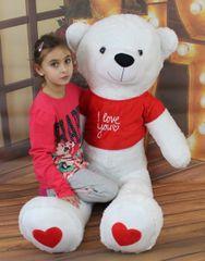 BABY NELLYS - Plyšový medveď 160 cm s tričkom I love - biely