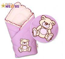 BABY NELLYS - Zavinovačka - Medvídek Teddy - jersey - lila